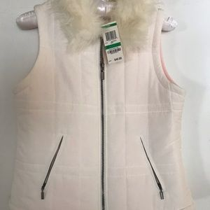 Girls jacket size L / 14 creme colored w/faux trim